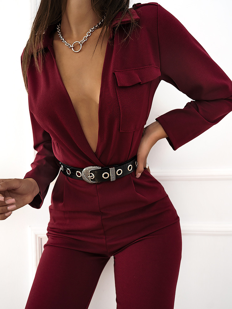 MANIANA WINE JUMPSUIT