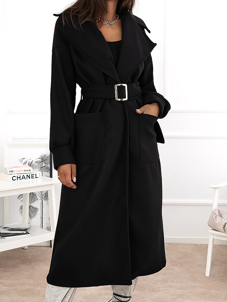DOMENICA BLACK LONG COAT