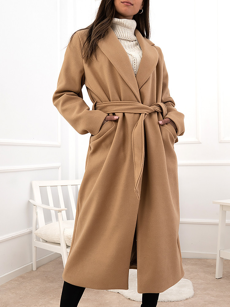 DANIELA CAMEL LONG COAT