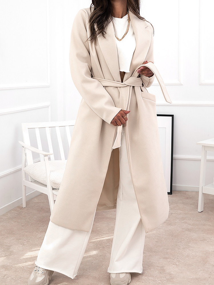 DANIELA CREAM LONG COAT
