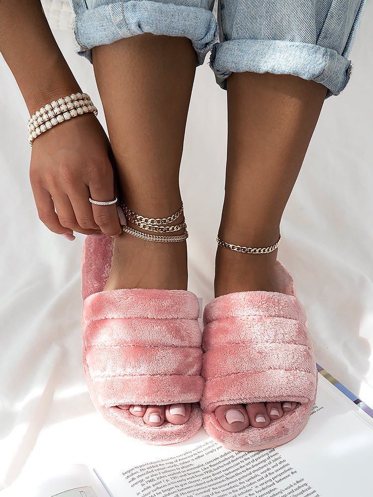 MELODY TEDDY PINK SLIPPERS