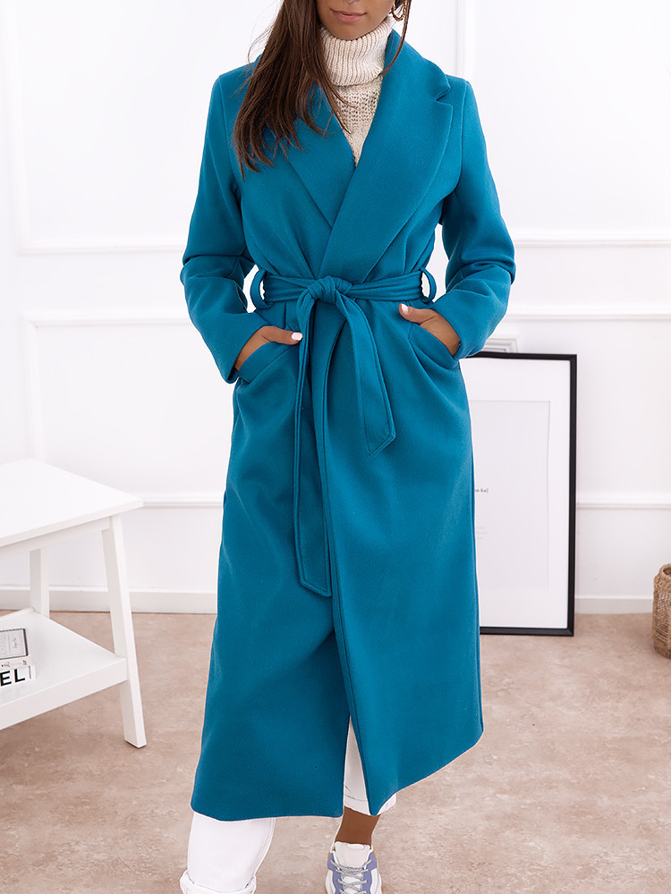 DANIELA PETROL LONG COAT