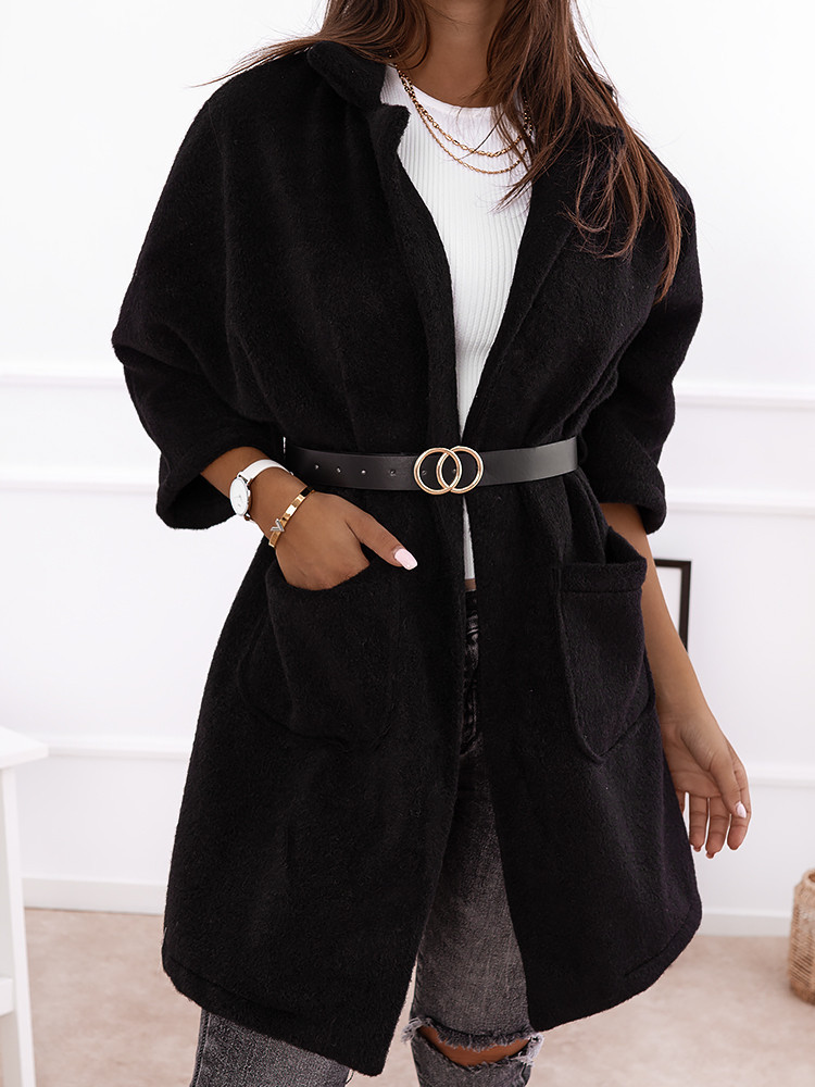 LA FEMME BLACK COAT