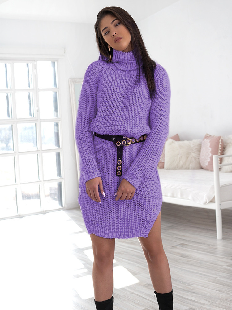 CECILIA LILAC KNITTED DRESS