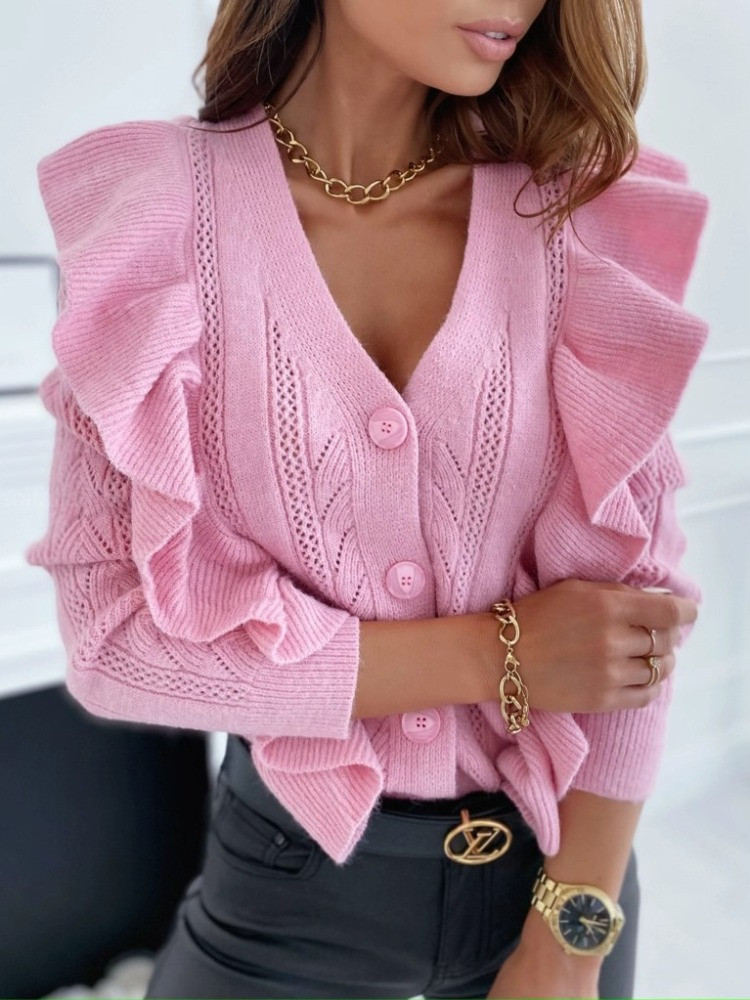 PINK KNITTED CARDIGAN