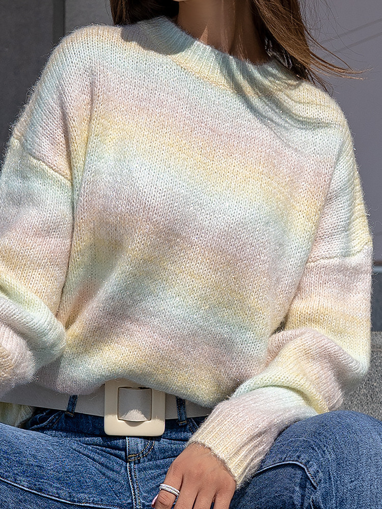 RAINBOW LUREX KNITTED BLOUSE