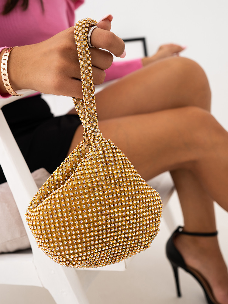 LIBY GOLD STRASS POUCH