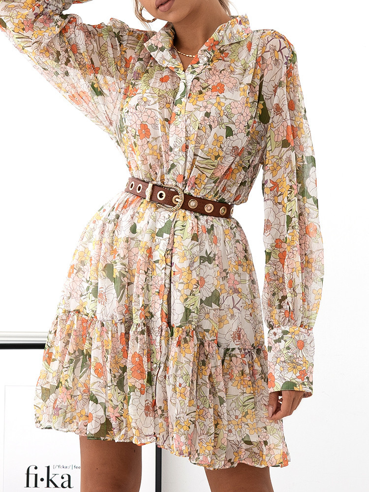 MIRADOR FLORAL CHIFFON DRESS