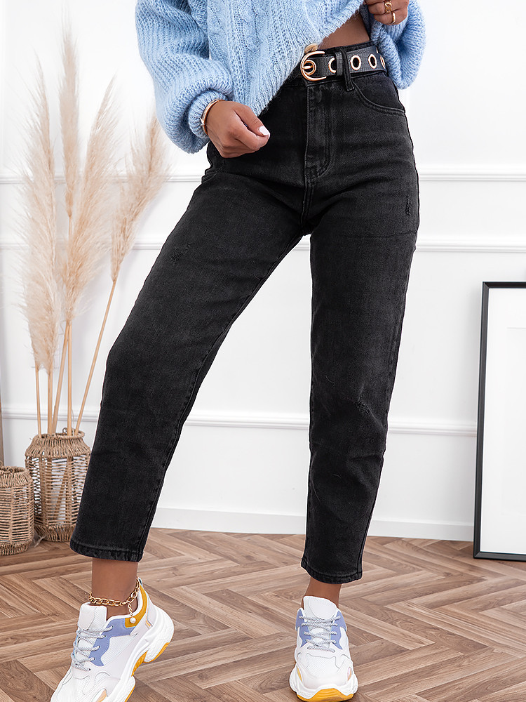 HIGHLIFE BLACK MOM FIT JEANS