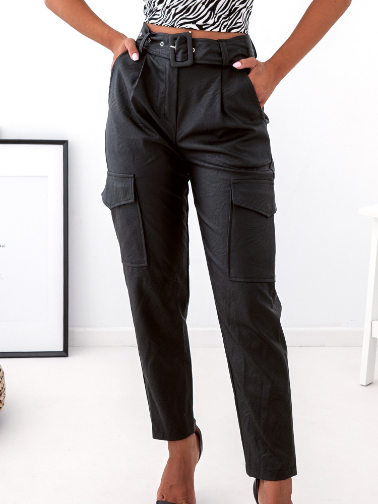 BOWIE HIGH WAISTED BLACK PANTS