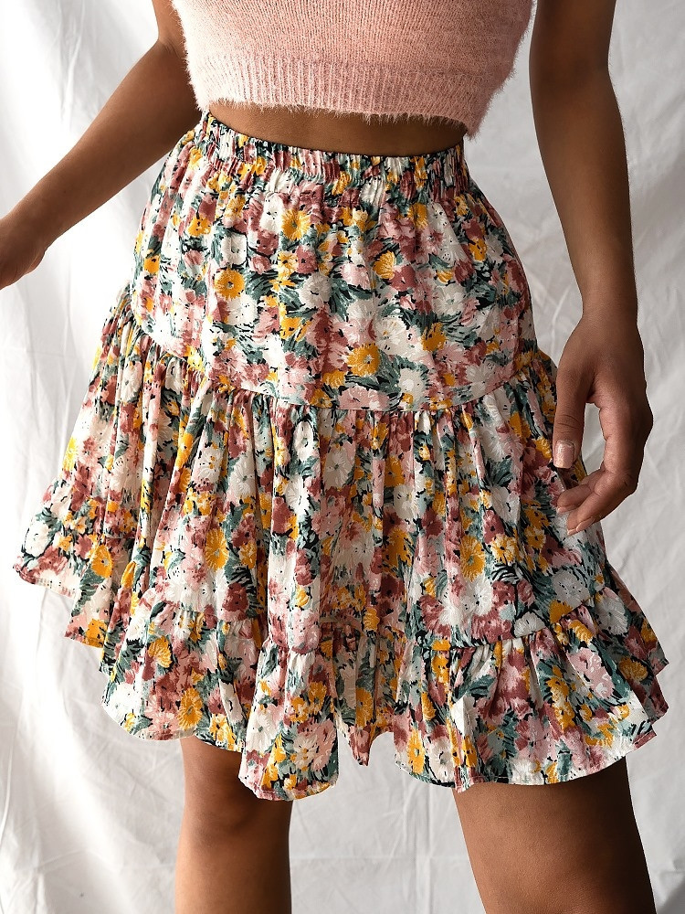 NELLY FLORAL MINI SKIRT