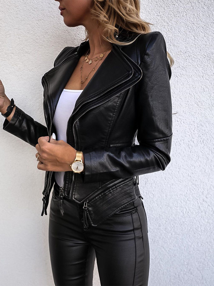 ELSA BLACK ECO LEATHER JACKET