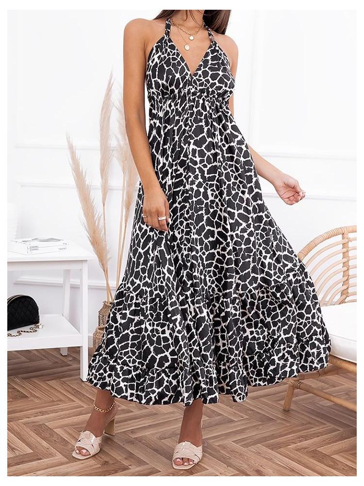 AGATHA BLACK AND WHITE DRESS