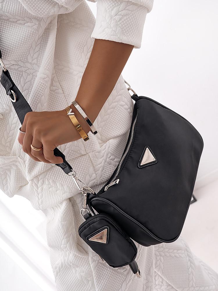 CALLISTO BLACK SHOULDER BAG