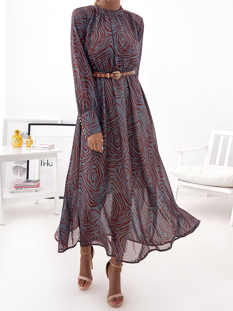 ZELENIA PETROL MAXI DRESS