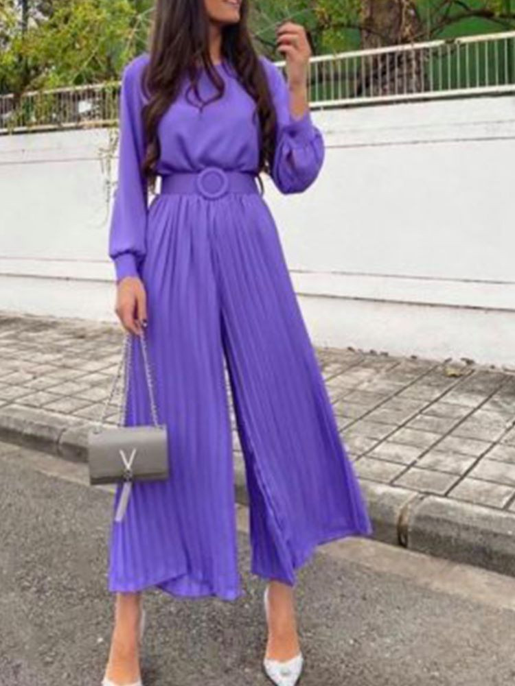 DEEP PURPLE  JUMPSUIT