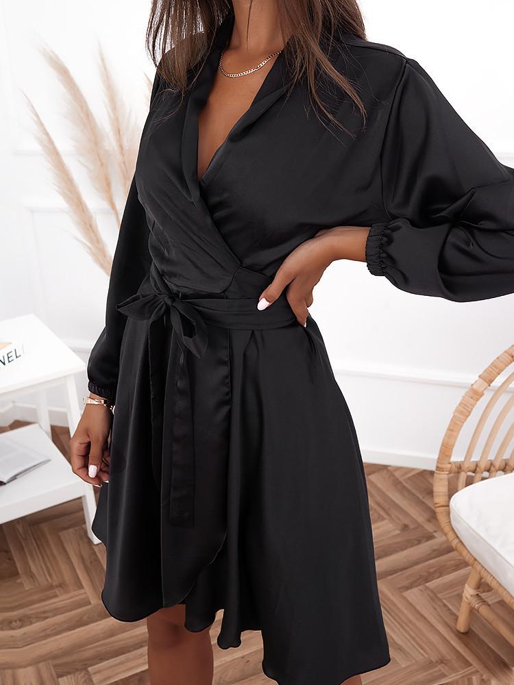 NATALIA BLACK MINI DRESS