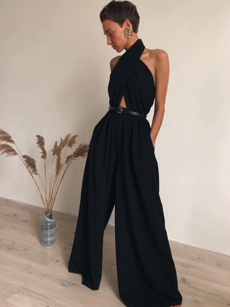 ELEMENT BLACK JUMPSUIT