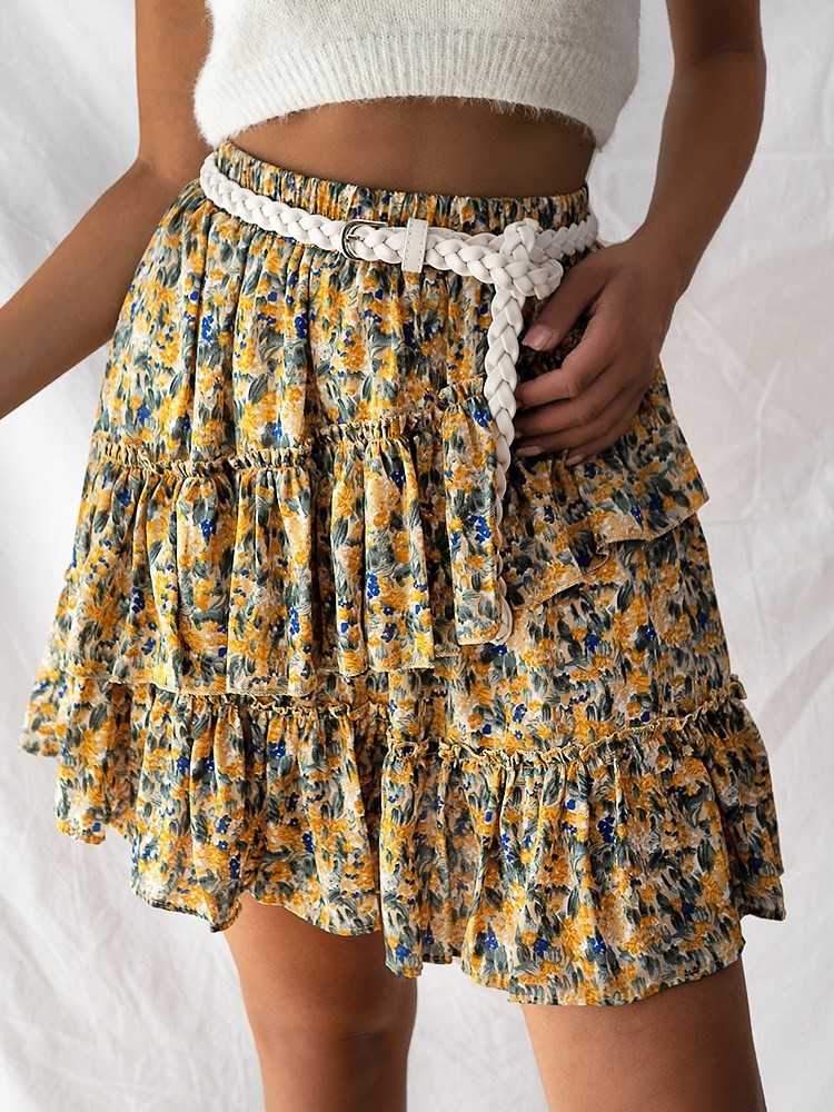 FELICITY YELLOW MINI SKIRT