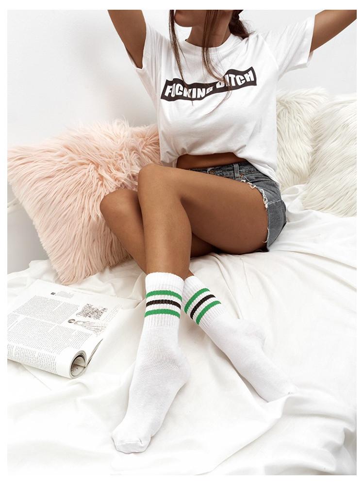 STRIPES GREEN BASKET SOCKS