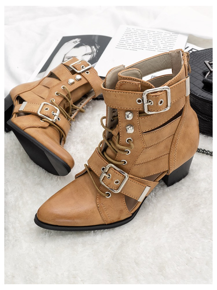 MILANO BEIGE CUT OUT BOOTIES