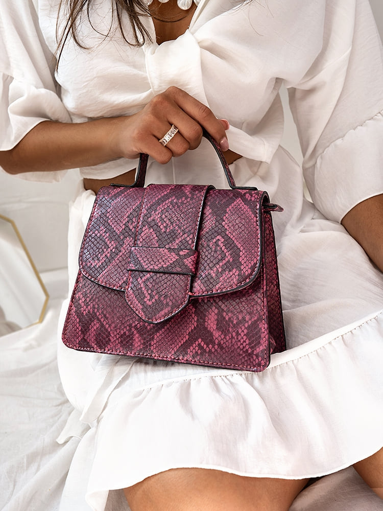 PURPLE SNAKE MINI BAG