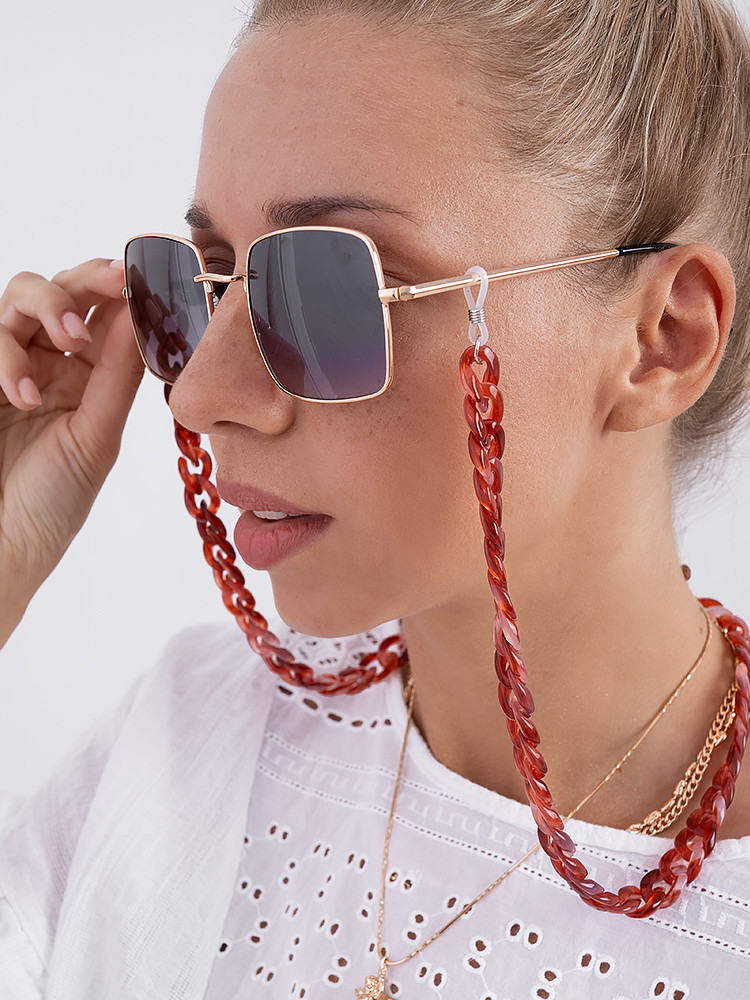 ΑΛΥΣΙΔΑ ΓΥΑΛΙΩΝ MEDIUM FEDORA POMEGRANATE CHAIN FOR SUNNIES