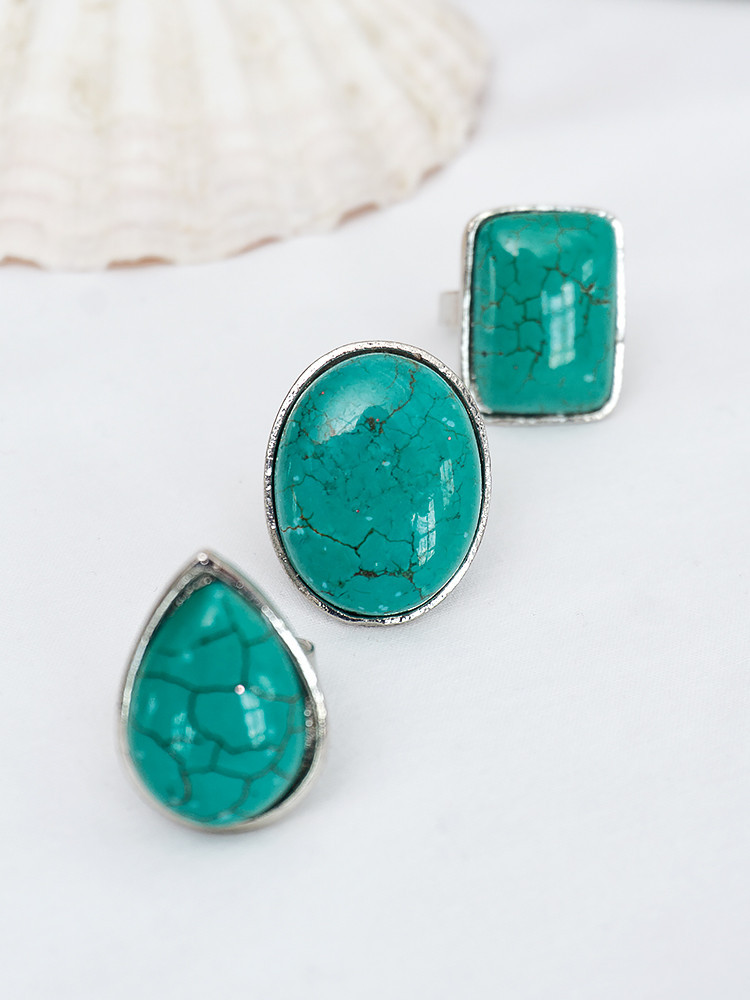 TURQUOISE SHAPE RINGS