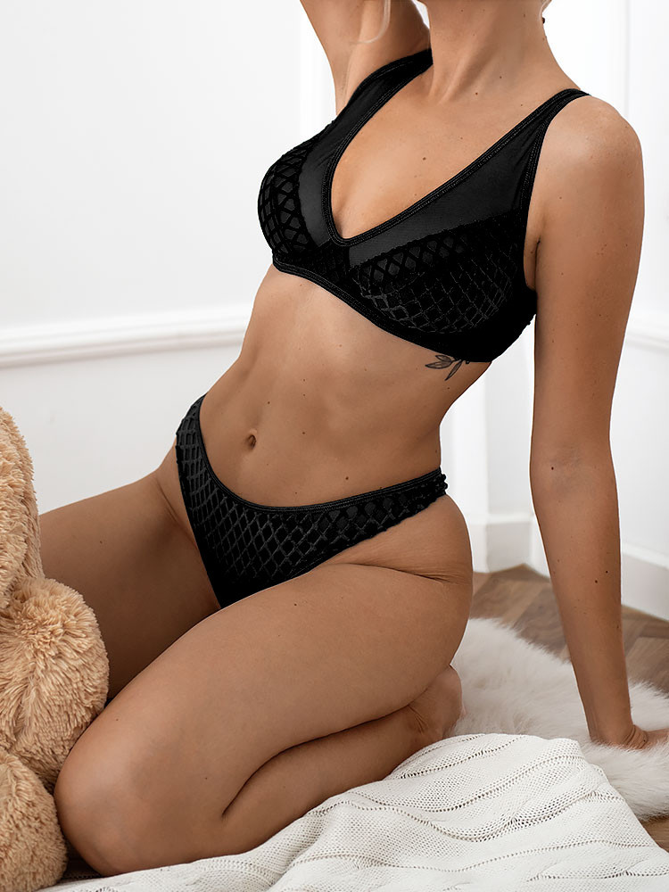 VIVALDI BLACK LINGERIE SET