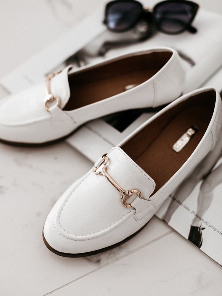 ANASTASIA WHITE LOAFERS
