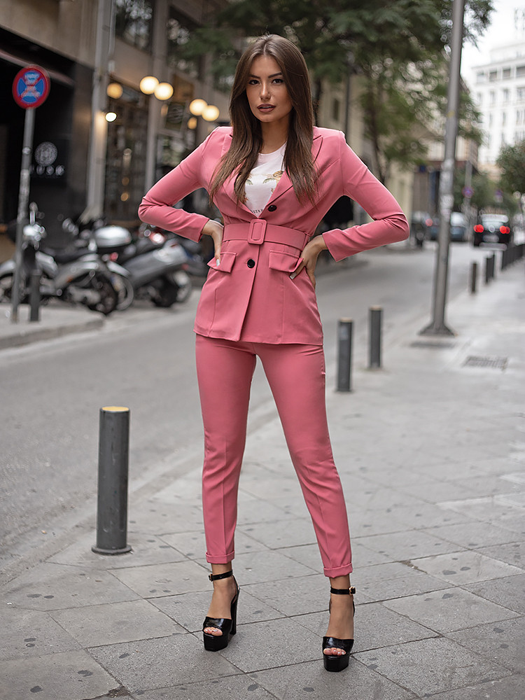 CLAUDIA TOTAL PINK SUIT...