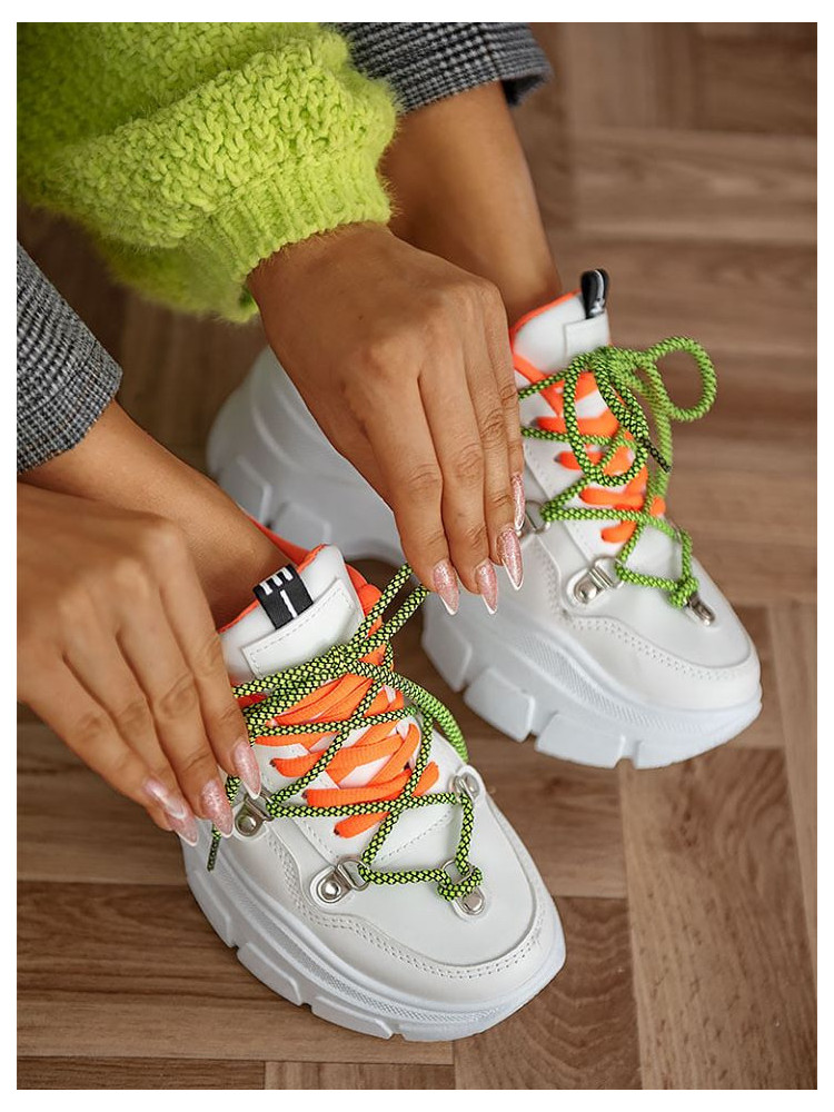 HAILEY WHITE FLUO SNEAKERS