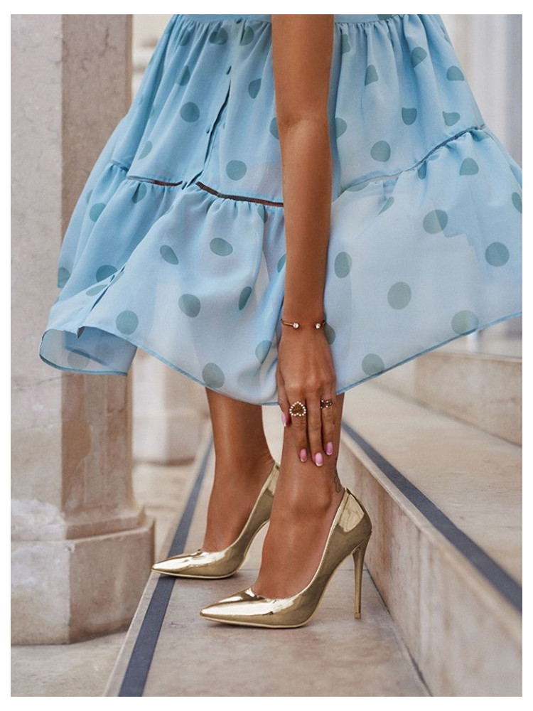 GOLD MIRROR PUMPS