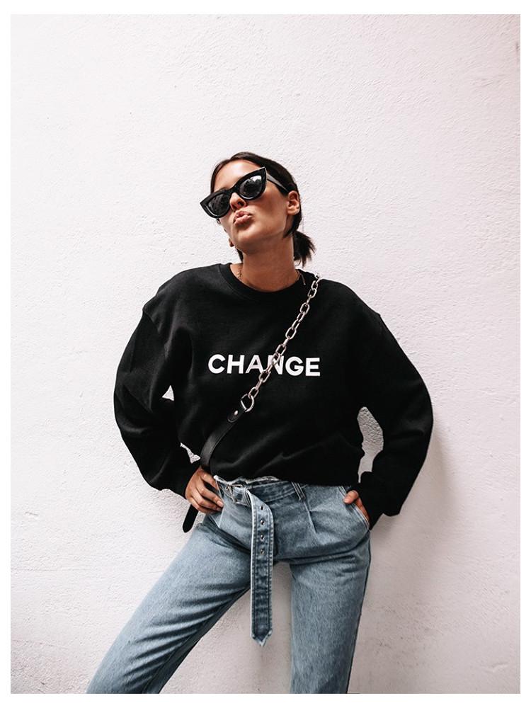CHANGE BLACK SWEATSHIRT