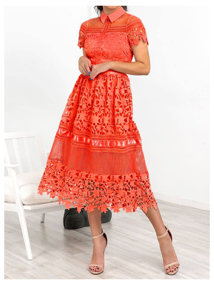 GIOVANNA CORAL DRESS
