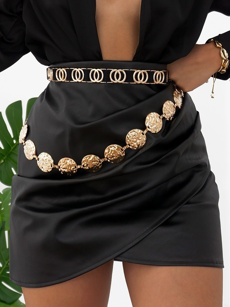 NOVA BLACK LEATHER SKIRT