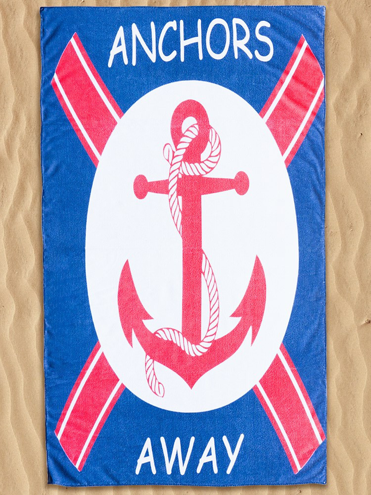 ANCHORS BEACH TOWEL