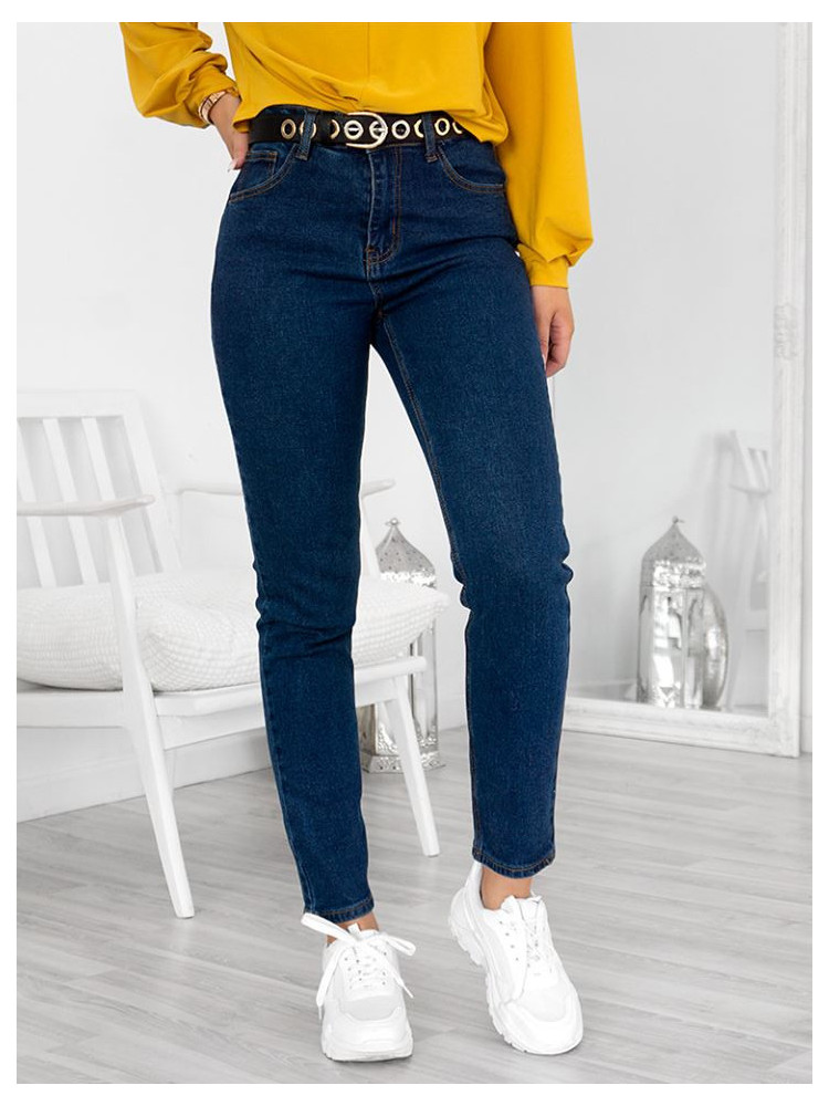 MARIA DARK MOM FIT JEANS