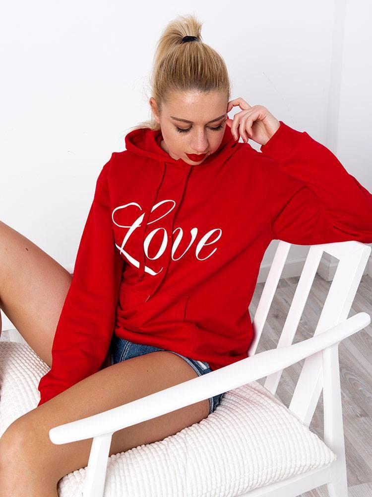 LOVE RED HOODIE