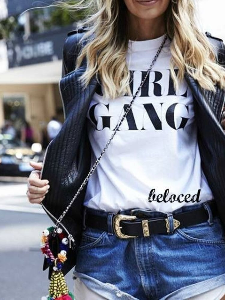 GIRL GANG WHITE T-SHIRT