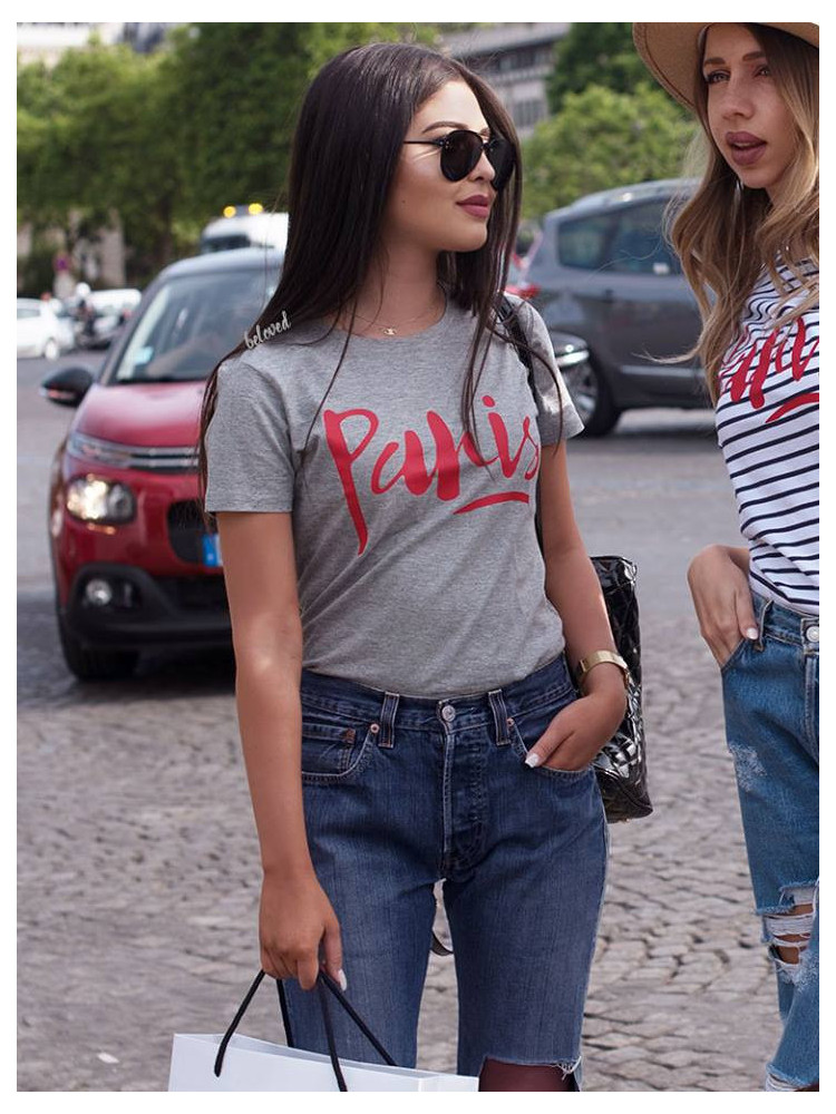 PARIS GREY WITH RED T-SHIRT