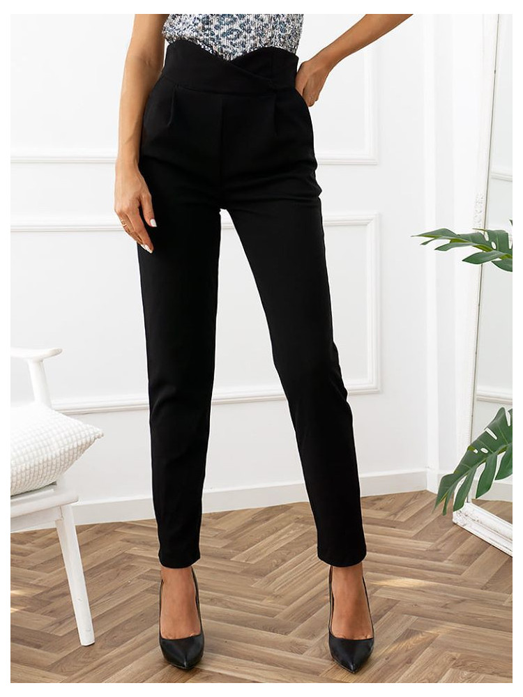 BEVERLY BLACK HI WAISTED PANTS
