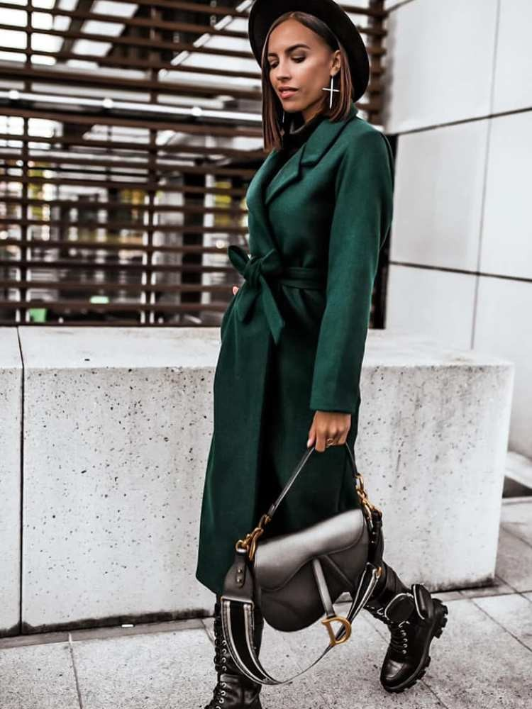 BERYL EMERALD LONG COAT