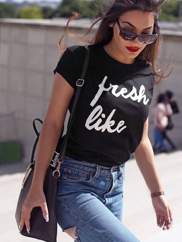 FRESH LIKE BLACK T-SHIRT