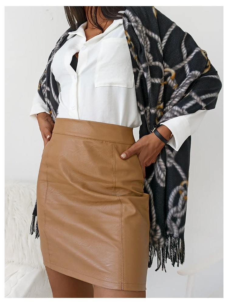 CHAINS BLACK MOHAIR SCARF