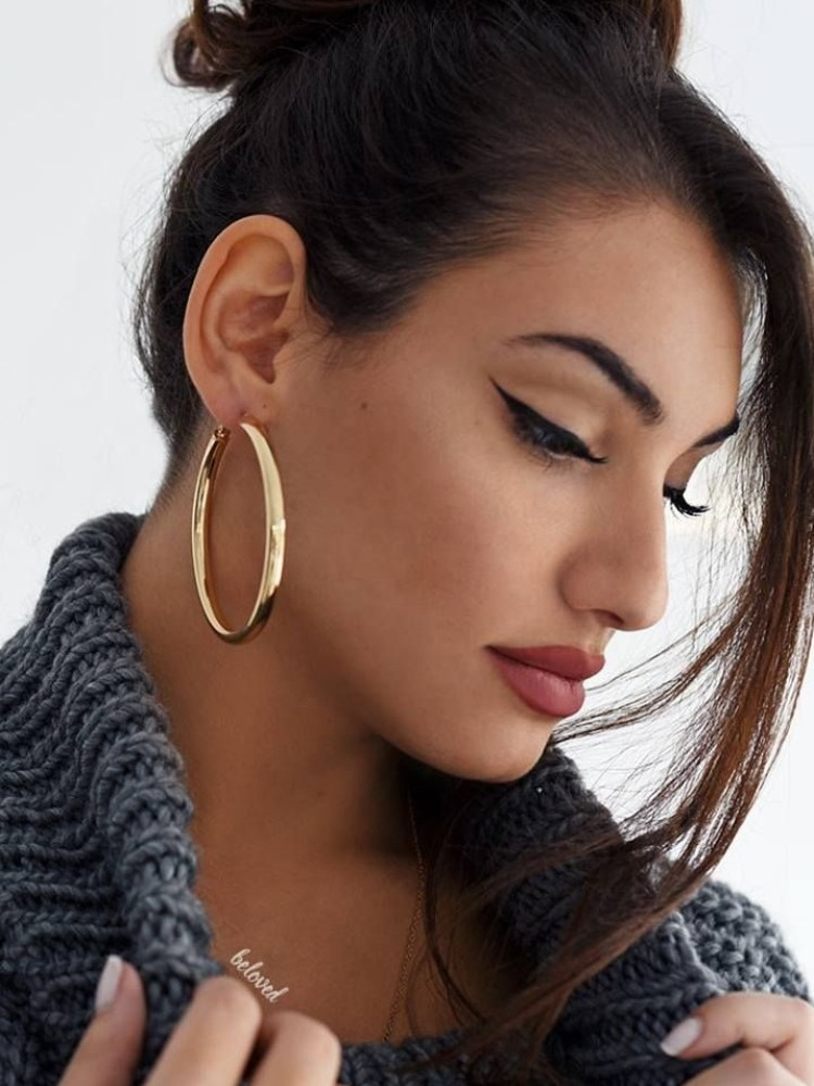 BOLD HOOP EARRINGS (2 COLOURS)