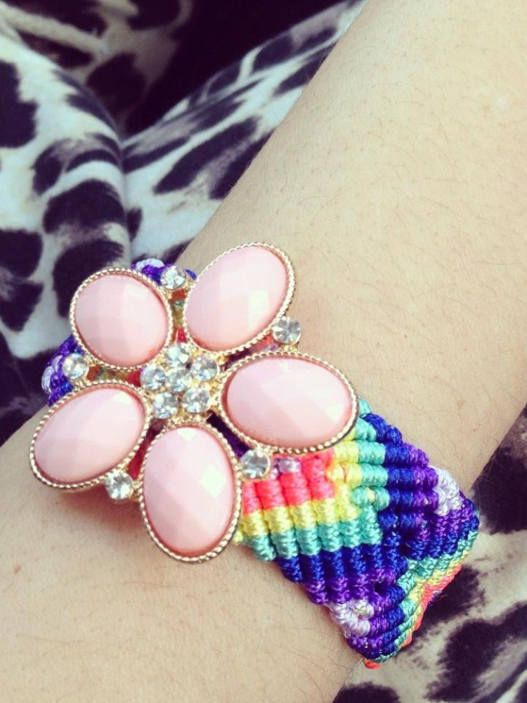 FRIENDSHIP BRACELET PINK 1+1