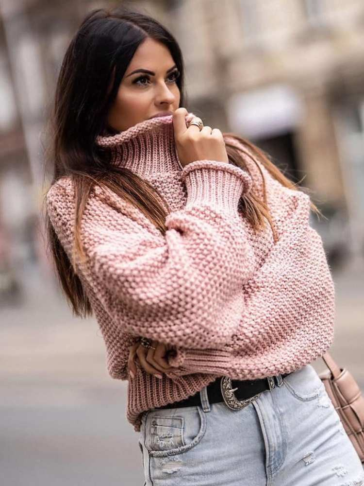 BIG ALICE PINK KNITTED BLOUSE