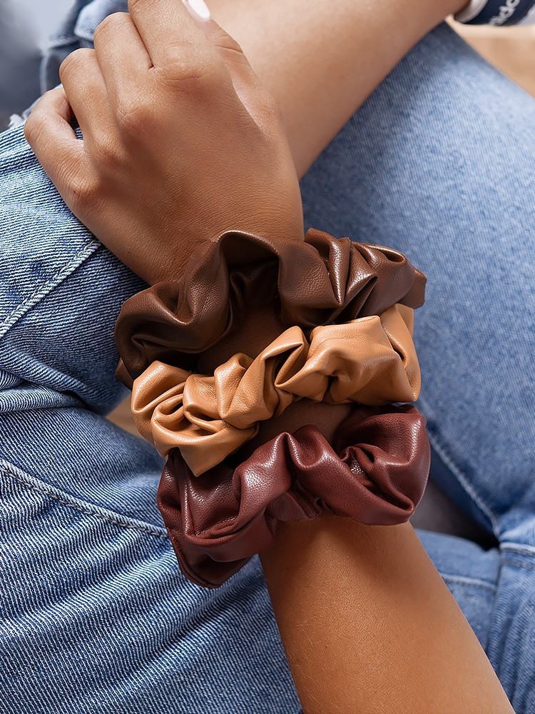 LEATHER  SCRUNCHIES CHB