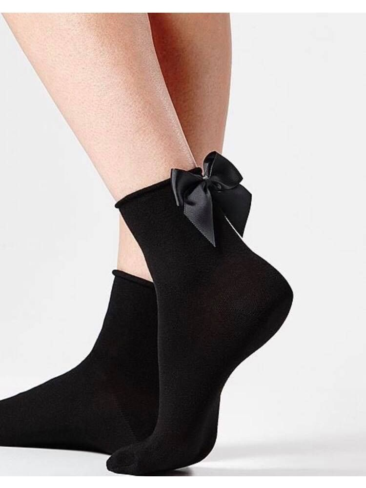 BOW BLACK MINI SOCKS